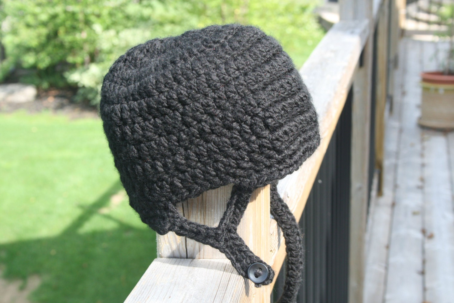 Free Crochet Pattern For Helmet Hat : Hockey Helmet Hat Crochet Pattern Newborn Toddler Child