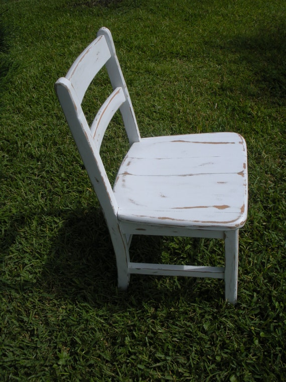 Vintage Chair Painted And Distressed Chair 1950 S