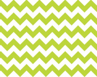 Small Chevron in Lime by Riley Blake