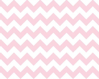 Small Chevron in Baby Pink by Riley Blake