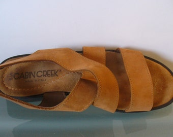 Made in Italy Slingback Suede Sandals Size 9US