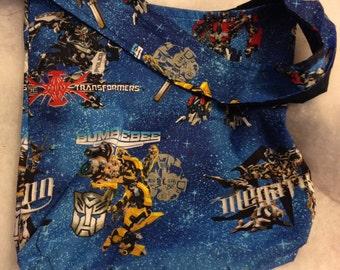 Transformers Hobo REVERSIBLE CrossBody Bag / purse
