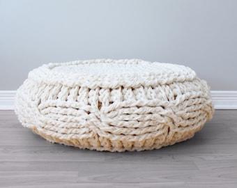 DIY Crochet PATTERN - Crochet Cable Footstool Cover fits Ikeau0027s Alseda Footstool 23-7/ & Alseda | Etsy islam-shia.org