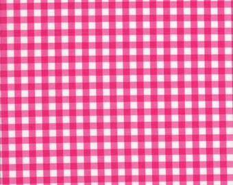 Pink Gingham Fabric - Gingham Fabric - 1/4 inch Gingham -  Riley Blake Fabric