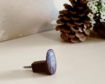Railroad Spike Hook WITH HANGER BOLT - Rustic Decorative Hook - Hook Supplies