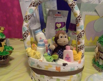 Made to Order Themed Diaper Baskets