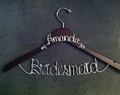 BUY 2 - Get 1 FREE-- Bridesmaid Hanger WITH Name