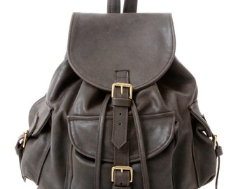 Brown Leather Duffle