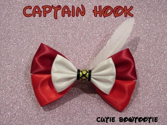 Captain Hook Hair Bow Peter Pan Disney Inspired
