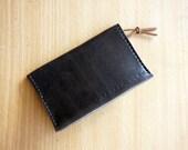 Handmade Genuine Leather Card Holder in Dark Brown by Captain Ryan