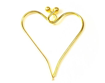 Gold Plated Ear Wire (French Hook) with Ball End - 40, 60, 80, or 100