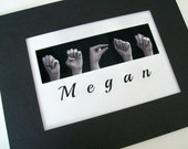 ASL Alphabet NAME Sign Language - Personalized Print plus Digital Image - Custom Orders