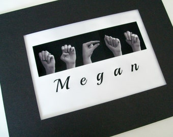 ASL Alphabet Name In American Sign Language Custom Order