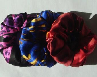 Silk Hair Scrunchies, 3 for 24.00