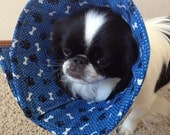 Bg Pet Creations Comfort Cones- Blue paws Medium