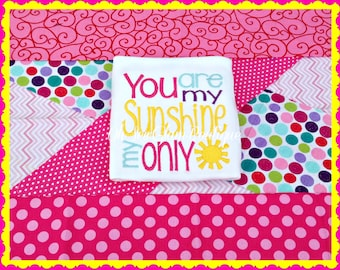 You are my Sunshine My only Sunshine Embroidered Shirt - You are my sunshine - Girls - Sunshine - Girls Shirt