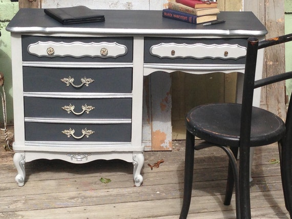 Small Desk French Provincial Style Painted Furniture