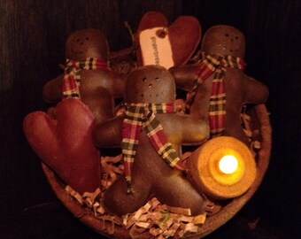 Primitive Christmas Gingerbread Man bowl fillers