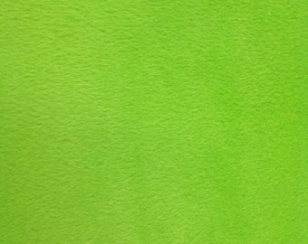 """Solid Velboa Faux Fur Fabric - Lime - Sold By The Yard  - 58""""/60"""" Width"""