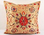 Suzani handmade embroidered decorative pillow MSP151-2