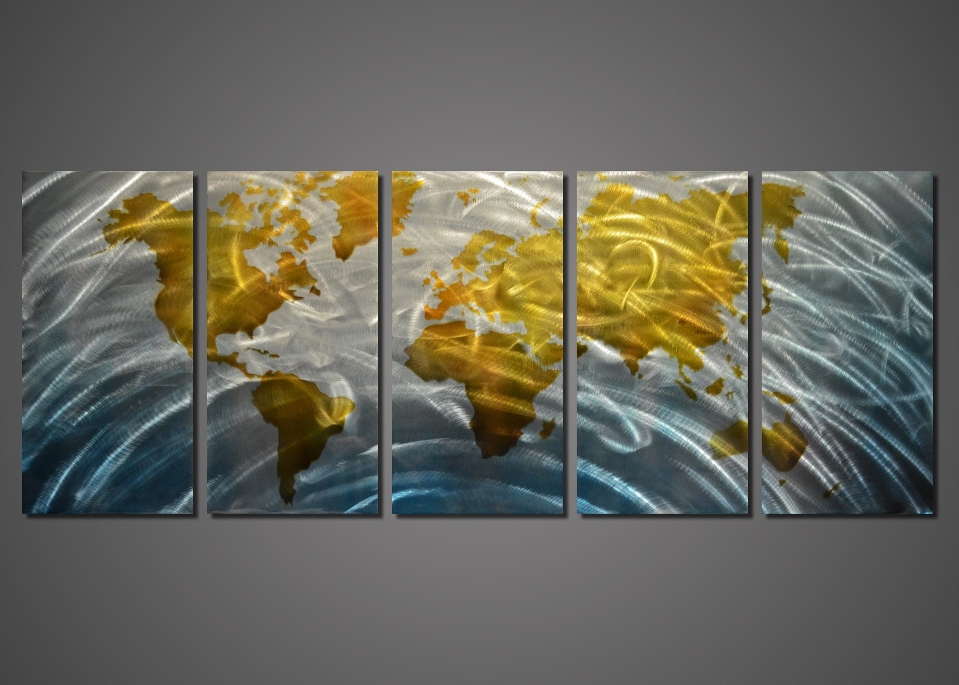 Metal Wall Decor Etsy : Modern abstract painting metal wall art by modernwalldeco