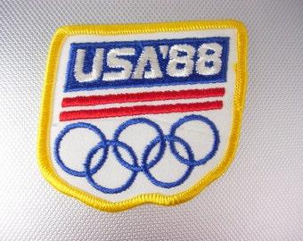 1988 USA Olympics Patch Vintage Summer Seoul Korea Birthday Collector Souvenir