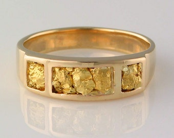 Style 253 Ring in 14ky Gold inlaid with 22kt Gold