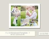 11 x 14 Digital Photo Collage Storyboard / Blog Board Template - 1