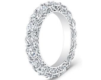 Ladies 14kt White Gold Diamond Eternity Infinity Wedding Band 100 Ctw G VS2 Quality