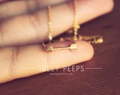 Gold Tiny Arrow Necklace