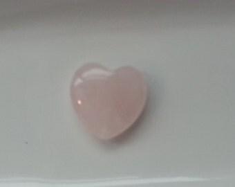 1 Large Heart Shaped Rose Quartz 25mm Heart