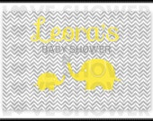 Personalized Party Backdrop - Printable - CUTE ELEPHANTS Theme - Dessert Table Background -  PDF