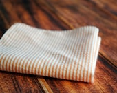 Pocket Square - Orange Peach Seersucker - stellaEMHaberdashery