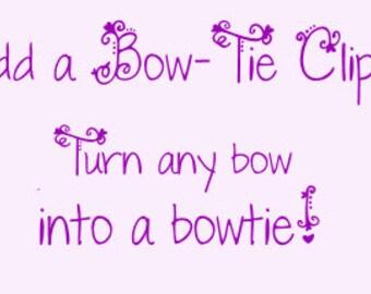 Add A Bow Tie Clip