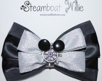Steamboat Willie Hair Bow