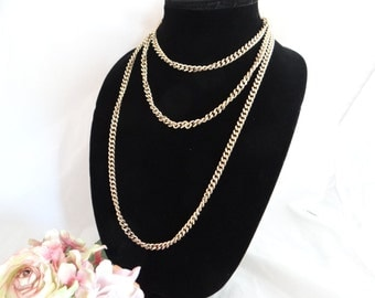 "Vintage 60"" Gold Tone Chain - Long and Lovely"