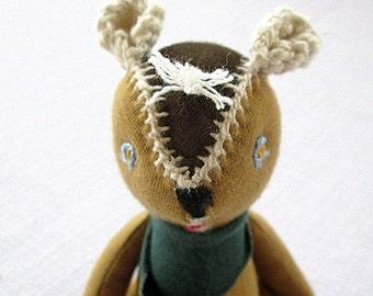 Waldorf Teddy Bear  soft toy  organic cotton Baby safe toy