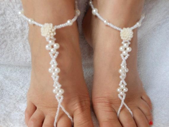 Yoga descalzo playa sandalias boda zapatos joyería por MyKnitCroch