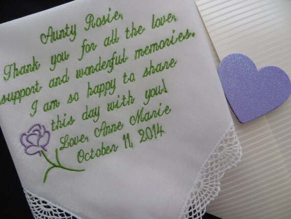 Special Wedding Gift For Niece : Aunt gift Gifts for Aunt Aunt Wedding by elegantmonogramming