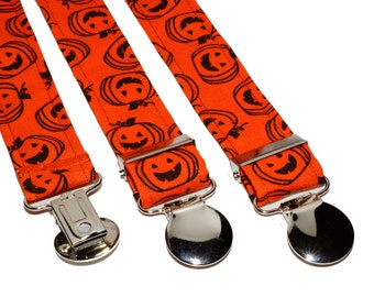 Orange Pumpkin Adjustable Suspenders