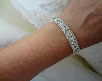 Wedding Bridal Rhinestone Crystal Bracelet Cuff