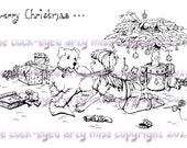 A digital stamp/image instant download.... Merry Christmas!