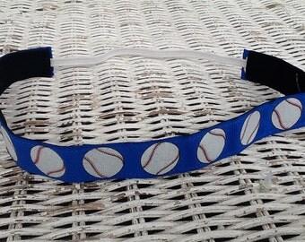 Blue Softball Headband - Womens Sports Headband