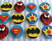 12 Fondant Edible Cupcake/cookie toppers