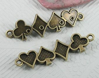 12pcs antiqued bronze color patterns conector EF0630