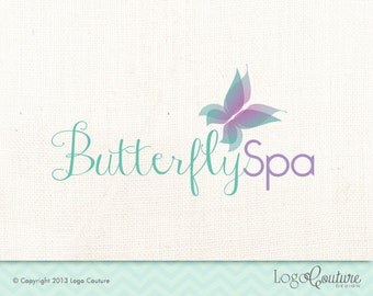 Premade Beauty Spa Logo - Custom Logo - Spa - Relaxation - Butterfly Spa - Logo for a Spa