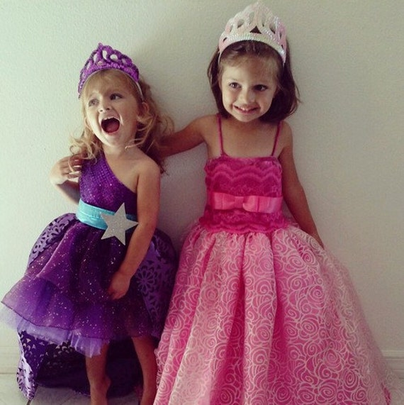 Barbie Prinzessin und Popstar Keira Lila Kleid Outfit 3 Stck