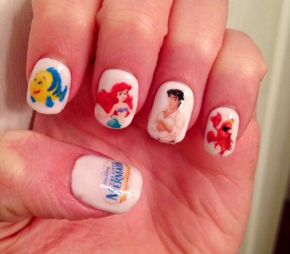 Little Mermaid Nails: The Little Mermaid Nail Decals