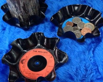 "Upcycled 7"" vinyl records - Bowls"