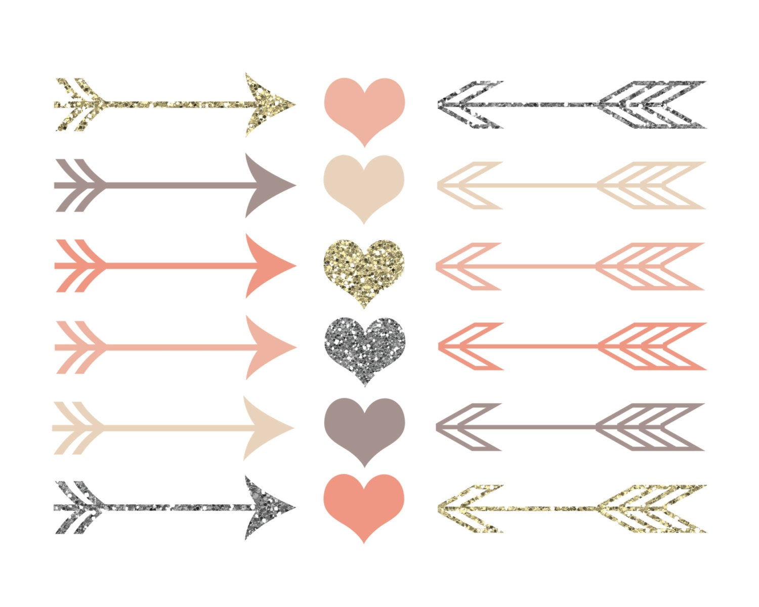 60% OFF SALE Valentines Clipart Clip Art Hearts Clipart